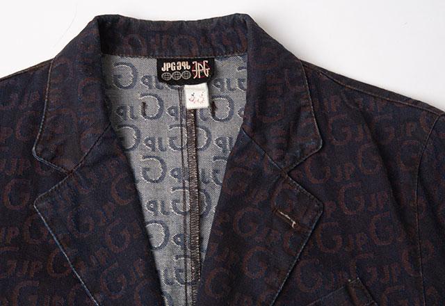 Jean Paul GAULTIER Logo Jacquard Denim Jacket