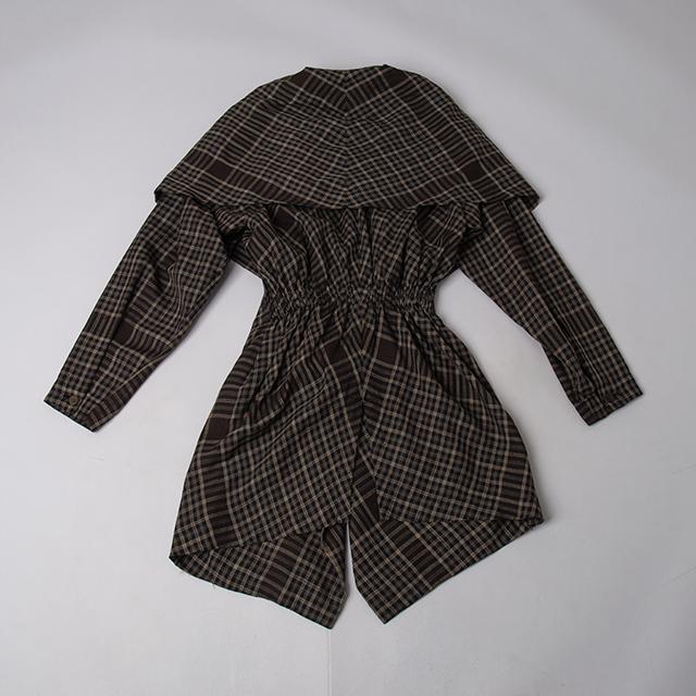 80's ISSEY MIYAKE Plaids Switching Dress