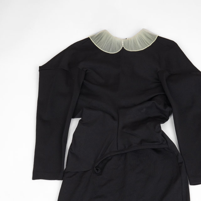 COMME des GARCONS AD1990 Pleats Collar Switching Dress