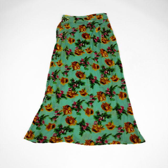 1997S/S Yohji Yamamoto FEMME Floral Opal Finish Skirt