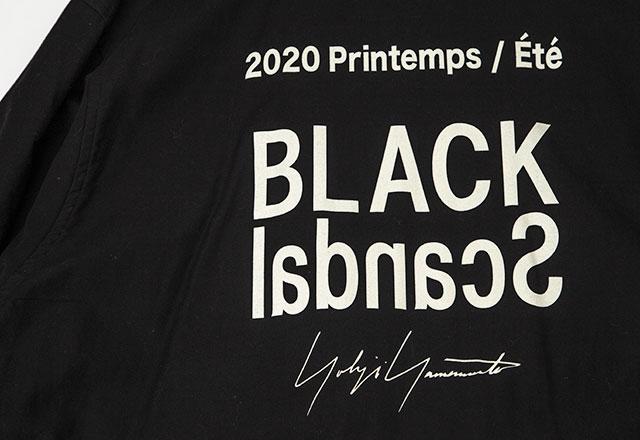 2020S/S BLACK Scandal Yohji Yamamoto Back Printed Staff Coat
