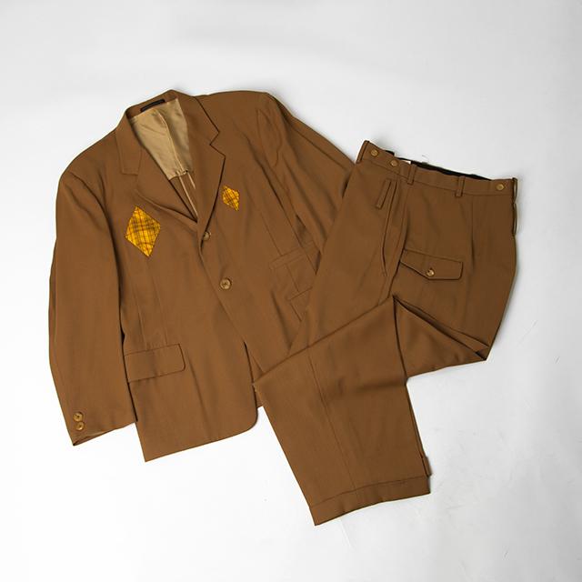 80'S Yohji Yamamoto POUR HOMME Plaids Switching Jacket & Pants