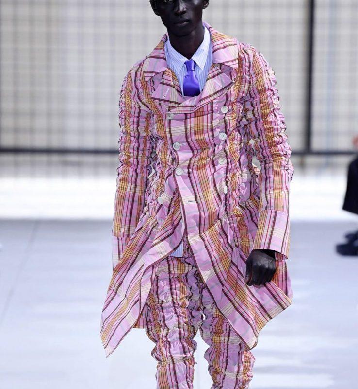 2019S/S COMME des GARCONS HOMME PLUS Plaids Shirring Jacket