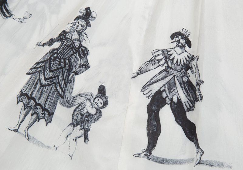 1989S/S COMME DES GARCONS Clown Printed Dropped Crotch Pants