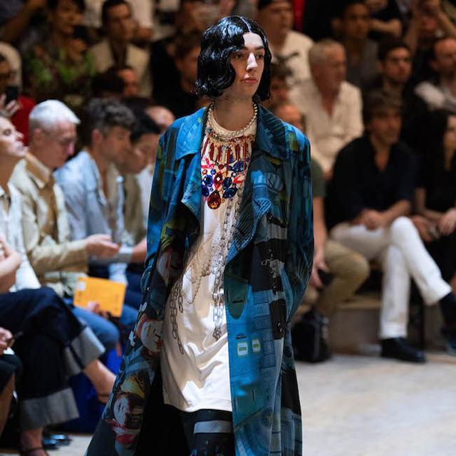 2020S/S COMME des GARCONS HOMME PLUS Necklace Print T-Shirt