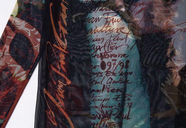 Jean Paul GAULTIER CLASSIQUE 97/98 Printed Mesh Top