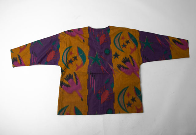 1980s ISSEY MIYAKE Printed Collar-less Jacket
