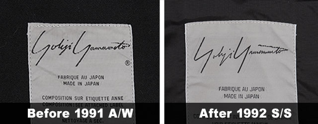 HOW TO FIND OUT THE SEASON OF YOHJI YAMAMOTO.