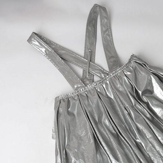 AD2017 COMME des GARCONS Metallic Shoulder Skirt