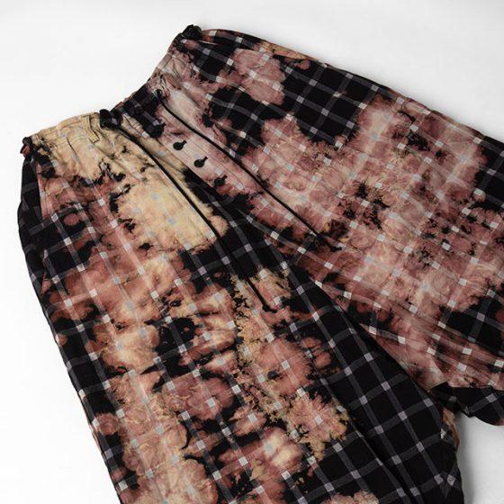 2021S/S Y's Yohji Yamamoto Plaids Bleaching Pants