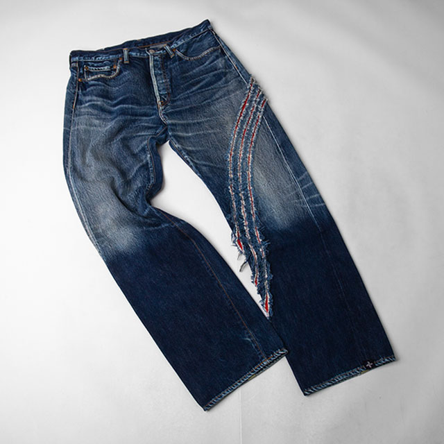 Y-3 Scratching Design Jeans