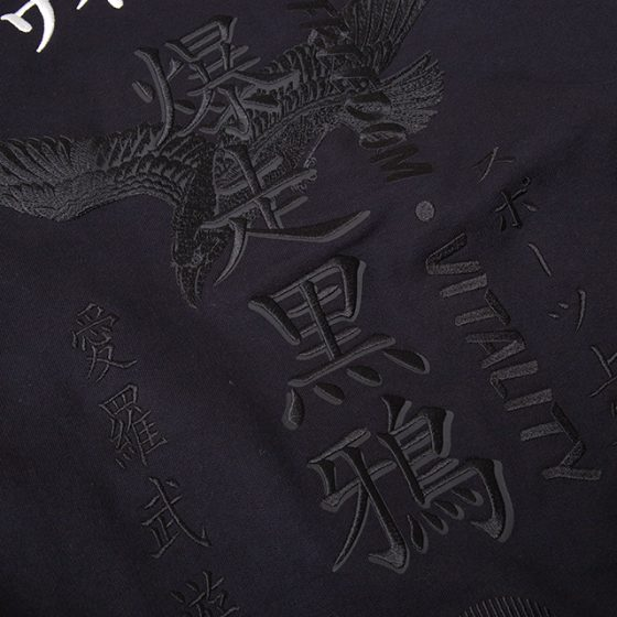 2020S/S Y-3 爆走黒鴉 Embroidery Hoodie