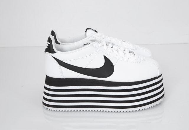 2018A/W COMME DES GARCONS X NIKE Cortez Platform Sneakers