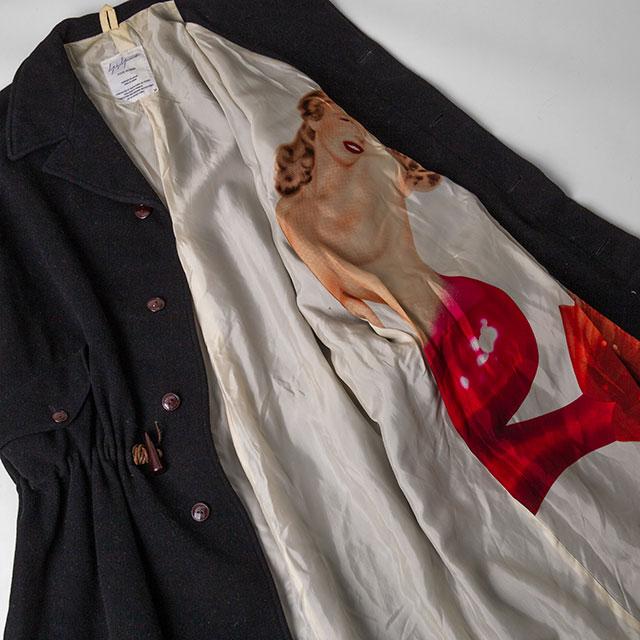 Yohji Yamamoto POUR HOMME 6.1 THE MEN Lining Mermaid Printed Mods Coat
