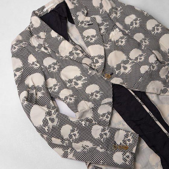 COMME des GARCONS HOMME PLUS Skull Block Plaids Jacket