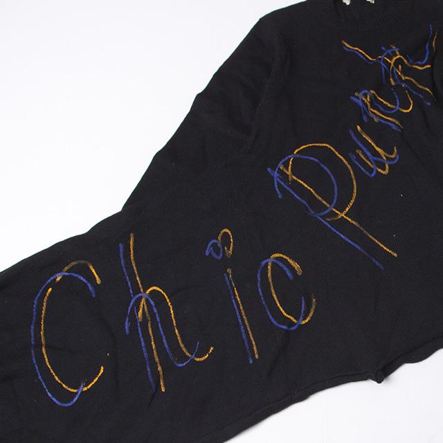 "1991A/W COMME des GARCONS ""Chic Punk/Revolution"" Printed Knit"