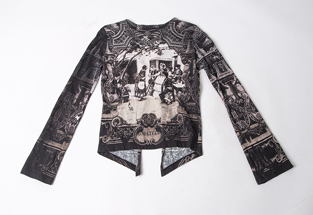 Jean Paul GAULTIER Gothic Printed Cardigan