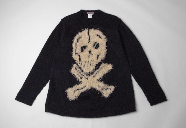 1994A/W Yohji Yamamoto POUR HOMME Skull Woven Knit Sweater