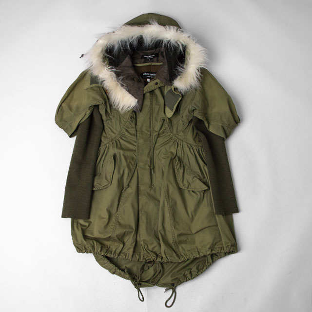 2010A/W JUNYA WATANABE COMME des GARCONS Rib Sleeve Switching Mods Coat