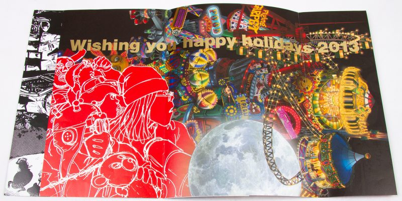 COMME des GARÇONS Wishing you happy holidays2013 Invitation poster