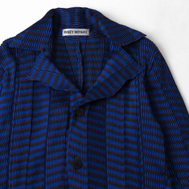 ISSEY MIYAKE Striped Pleats Jacket