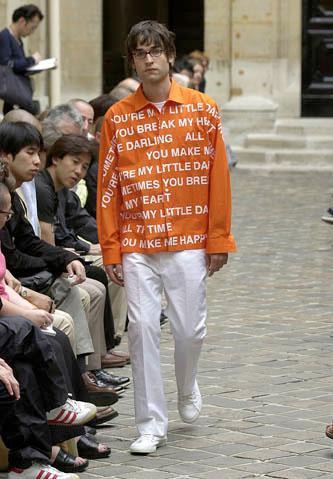 2002S/S JUNYA WATANABE MAN COMME des GARÇONS Poem Printed Shirt