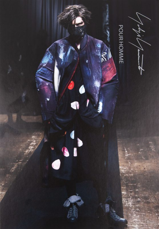 Yohji Yamamoto HOMME 2021-2022 AUTUMN/WINTER COLLECTION Invitation Card