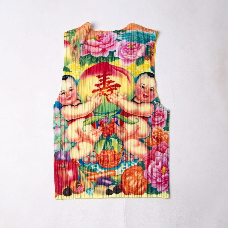 PLEATS PLEASE ISSEY MIYAKE Chinese Printed Vest