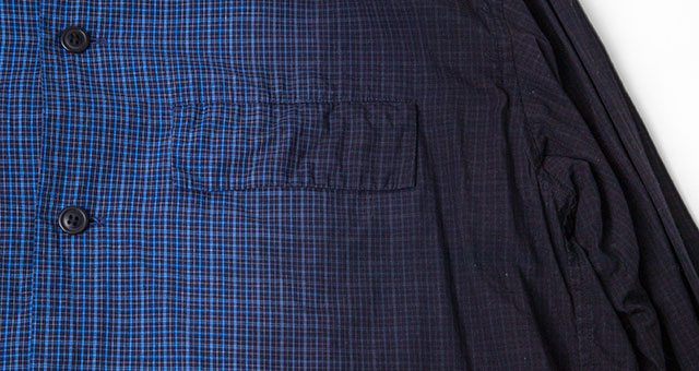 ISSEY MIYAKE MEN Plaid Gradation-colored Shirt