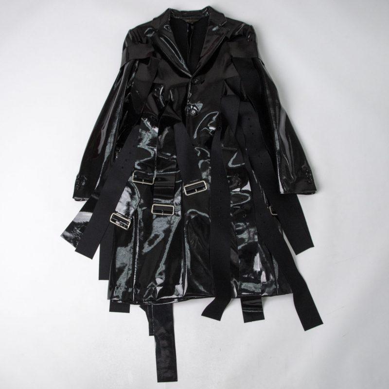 COMME des GARCONS Enamel Belt Design Cutting Coat