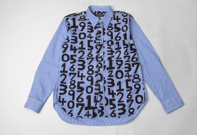 COMME des GARCONS  HOMME DEUX Numbers Printed Shirt