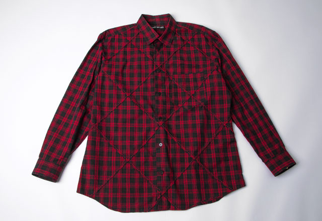 ISSEY MIYAKE MEN Plaid Switching Shirt