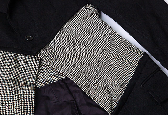 COMME des GARCONS houndstooth Switching Jacket