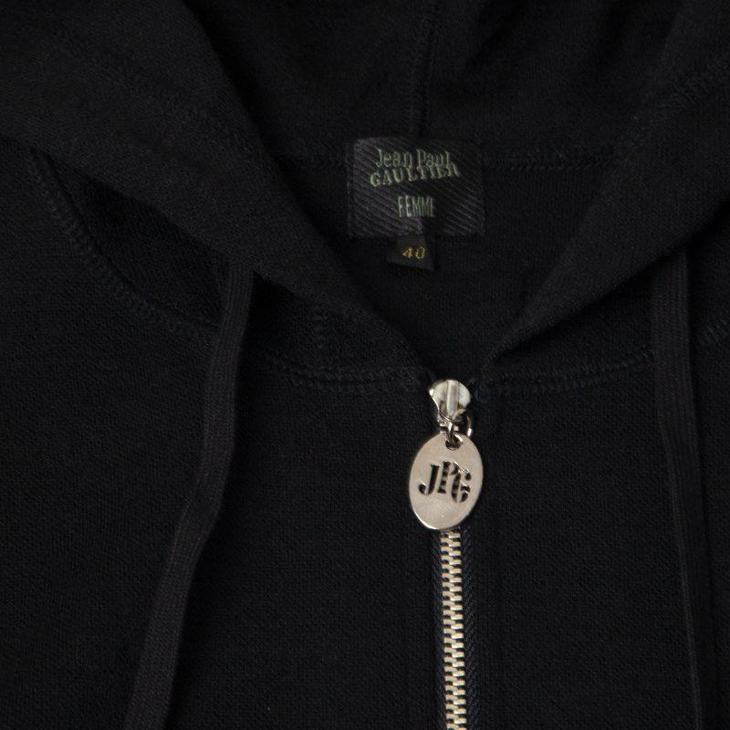 """Jean Paul GAULTIER FEMME """"JPG"""" Full-Zip Hoodie"""