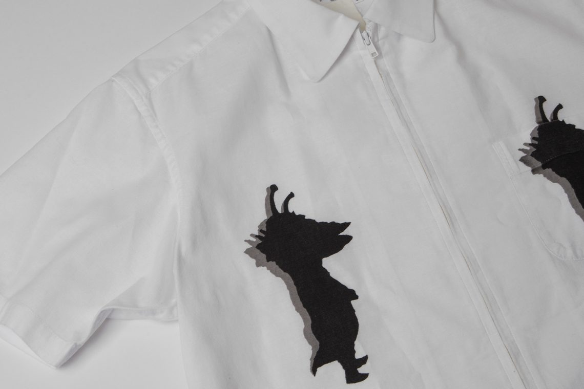 Yohji Yamamoto POUR HOMME Kanegon Printed Full-zip Shirt