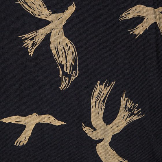 Yohji Yamamoto POUR HOMME Birds Printed Stole