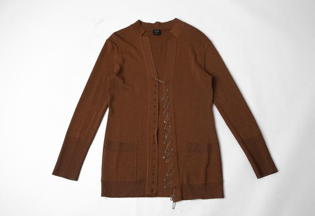 Jean Paul GAULTIER FEMME Safety pins Design Knit Cardigan