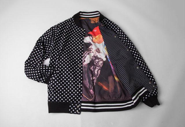 Supreme x COMME des GARCONS SHIRT Reversible Varsity Baseball Jacket