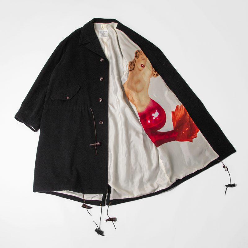 Yohji Yamamoto POUR HOMME 1991A/W 6.1 THE MEN Mermaid Printed Coat