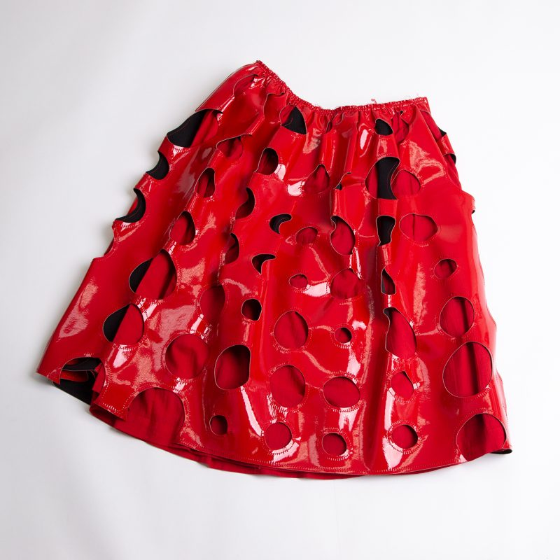COMME des GARCONS Punching Synthetic Leather Skirt