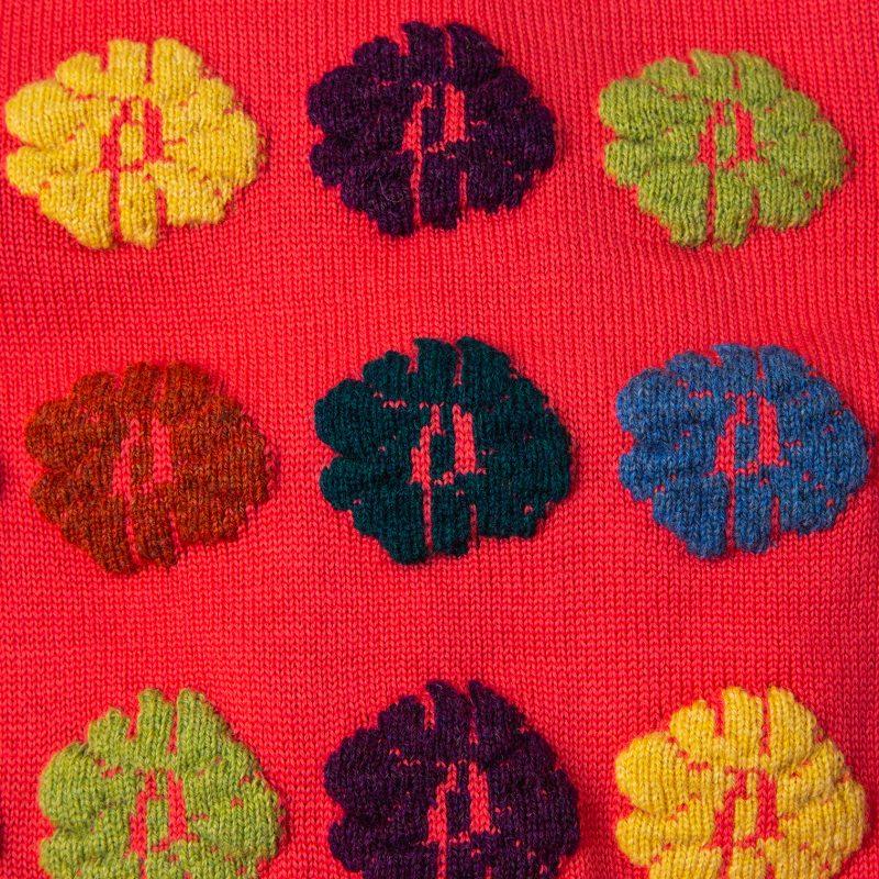 AD1999 COMME des GARCONS Flower Wrap Knit Top