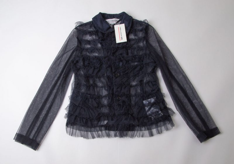 COMME des GARCONS GIRL AD2020 Mesh Frill Round-collar Jacket