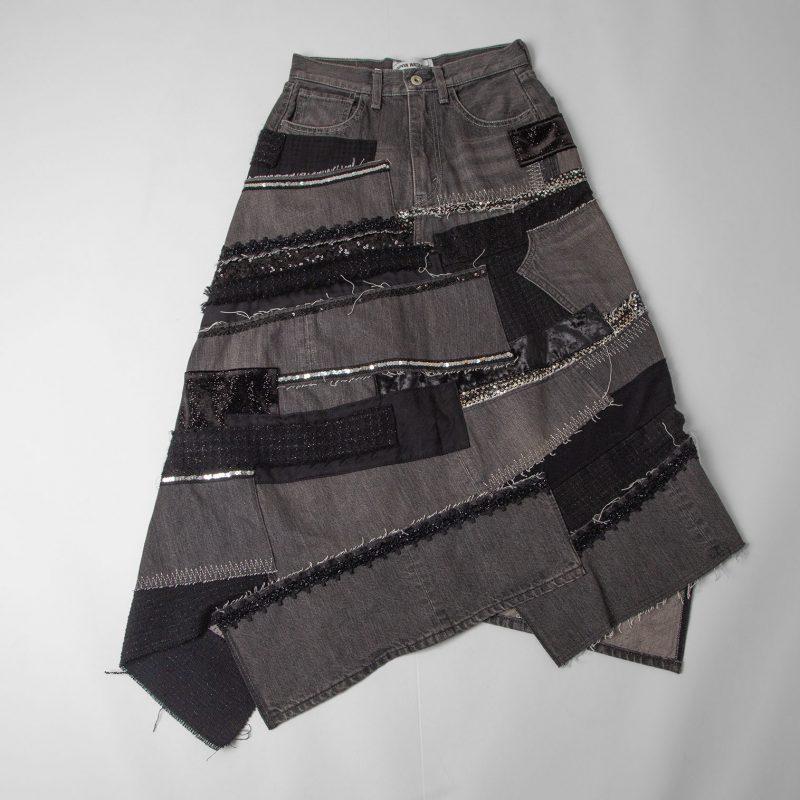 JUNYA WATANABE COMME des GARCONS denim AD2020 Multi Switching Design Skirt