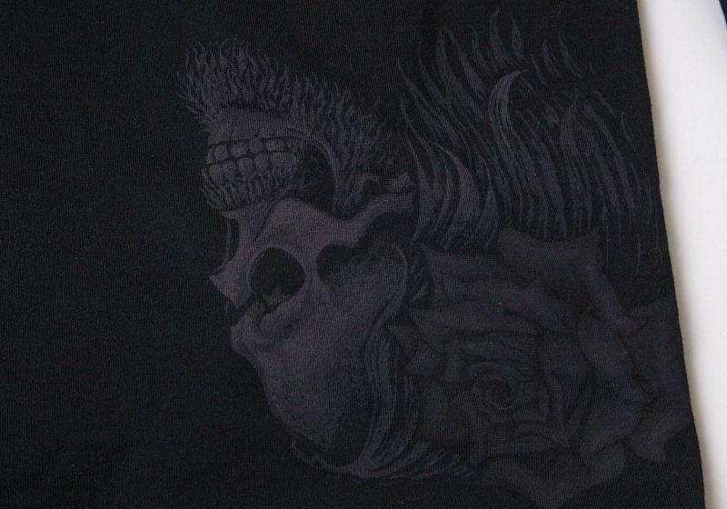 Yohji Yamamoto POUR HOMME Skull & Rose Printed Switching Top