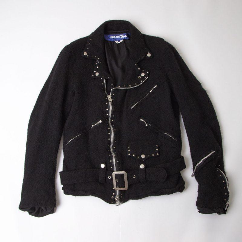 JUNYA WATANABE MAN COMME des GARCONS AD2007 Fulling Wool biker Jacket