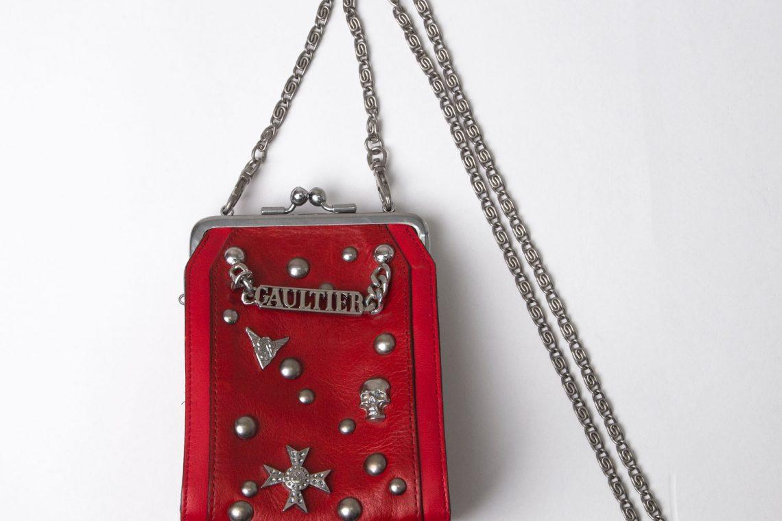 Jean Paul GAULTIER Studs Mini Leather Shoulder bag