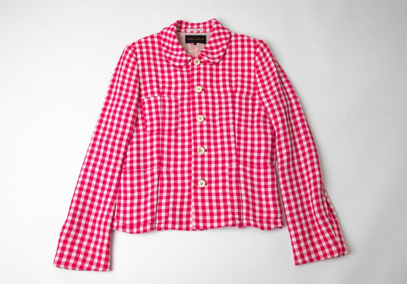 COMME des GARCONS Checkered Switching Jacket